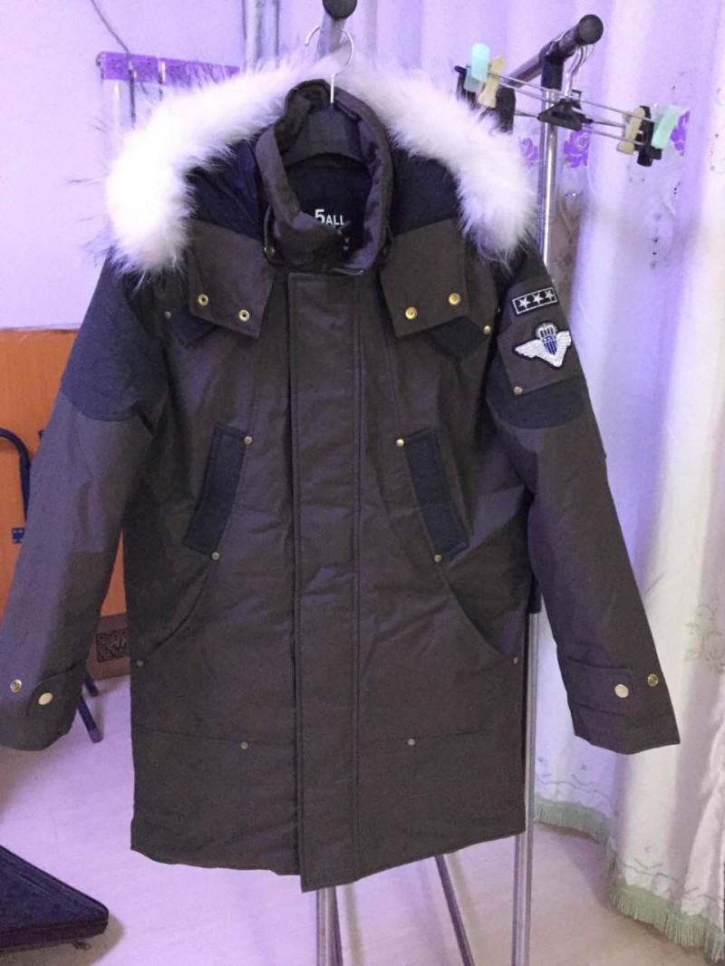 精品韩国东大门 男装纯鸭绒 纯毛皮领羽绒大衣
