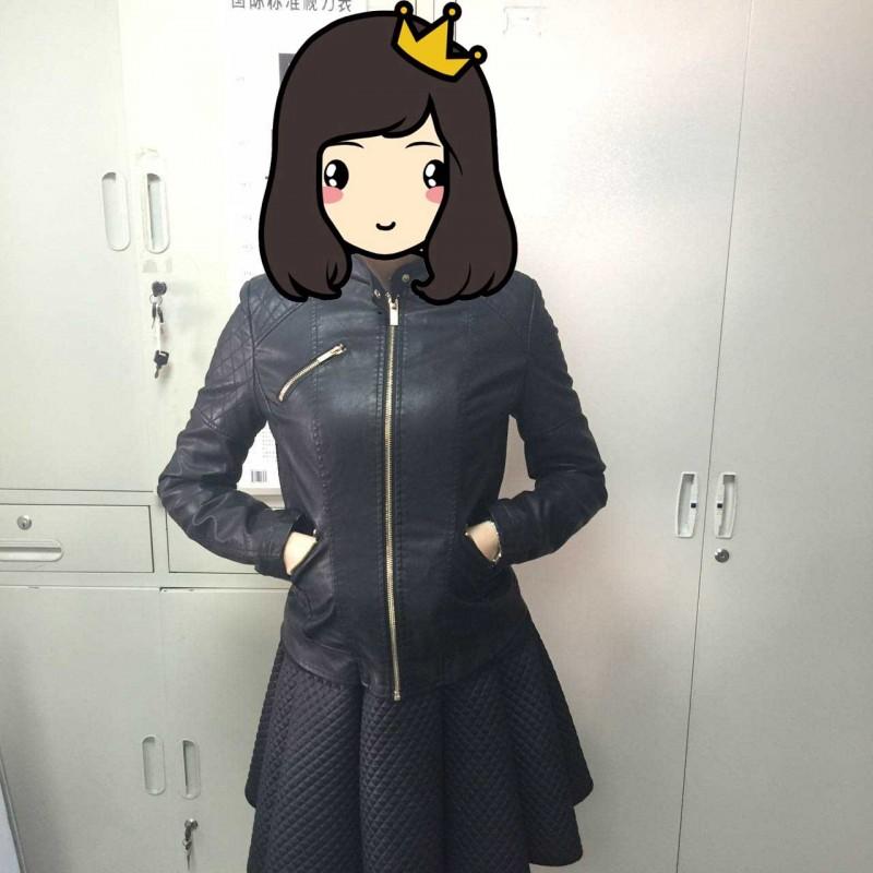 pu夹棉时尚女款夹克