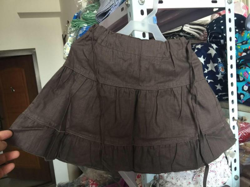 某工厂夏季女童咖啡麻裙两个码100件